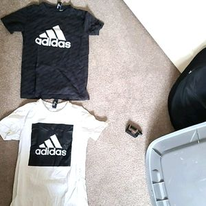 TWO ADDIDAS boys shirts youth sports